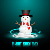 Merry Christmas Snowman Greeting card. Stock Image