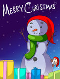 Merry Christmas snowman vector Royalty Free Stock Photo
