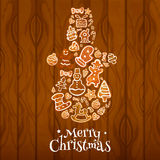 Merry Christmas Snowman vector symbol Stock Image