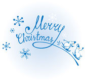 Merry Christmas & Snowmens Royalty Free Stock Images