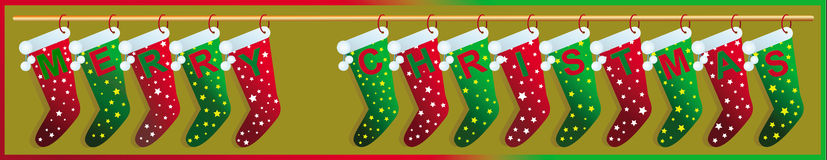 Merry Christmas socks Royalty Free Stock Photography