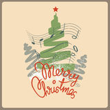 Merry christmas song post card Royalty Free Stock Photography
