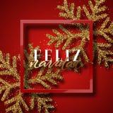 Merry Christmas. Spanish inscription. Feliz Navidad. Royalty Free Stock Photography