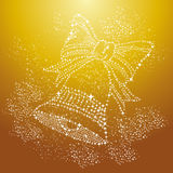 Merry Christmas sparkle bell background EPS10 vector file. Royalty Free Stock Images