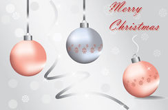 Merry Christmas Sparkling baubles Royalty Free Stock Photo