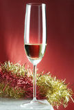 Merry Christmas. Sparkling wine to Christmas toast Royalty Free Stock Photos