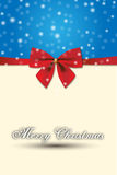 Merry Christmas special design and Red Gift Bow Royalty Free Stock Photo