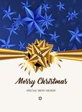 Merry Christmas! Special menu design. Royalty Free Stock Image