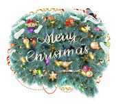 Merry Christmas Speech Bubble. EPS 10 Stock Image