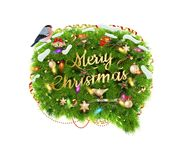 Merry Christmas Speech Bubble. EPS 10 Royalty Free Stock Photo