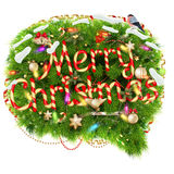 Merry Christmas Speech Bubble. EPS 10. Merry Christmas Speech Bubble,  On White Background. EPS 10 vector file included Stock Photo