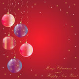 Merry Christmas spheres  Royalty Free Stock Image