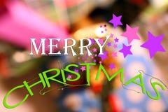 Merry Christmas splash card Stock Photos