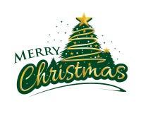 Bold merry Christmas stock illustration