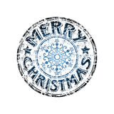 Merry Christmas stamp Stock Photo