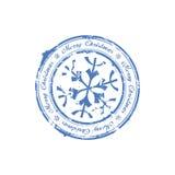 Merry Christmas stamp stock illustration