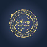 Merry Christmas stamp royalty free illustration