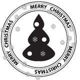 Merry Christmas stamp Royalty Free Stock Photo