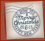 Merry Christmas Stamp. Merry Christmas And Happy New Year Stamp Royalty Free Stock Photos