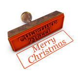 Merry Christmas stamp Royalty Free Stock Photography