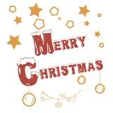 Merry Christmas stamp vector illustration