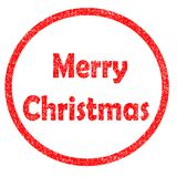 Merry christmas stamp on white background. royalty free illustration
