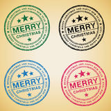 Merry Christmas stamps. Set of Merry Christmas and Happy New Year stamps Royalty Free Stock Photos