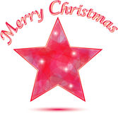 Merry Christmas Star background. In red and pink colors Stock Photos