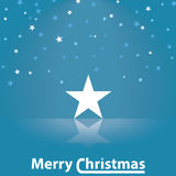 Merry Christmas star illustration Royalty Free Stock Photography