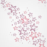 Merry Christmas star shapes seamless pattern backg Royalty Free Stock Photo
