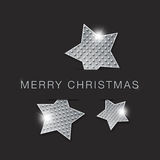 Merry christmas stars. Merry christmas shiny abstract metal stars background royalty free illustration