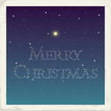 Merry Christmas from stars. Seasonal greeting card. Vector Illustration Royalty Free Stock Photography