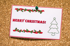 Merry Christmas sticker Stock Photo