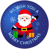 Merry christmas sticker / buttons Royalty Free Stock Photo