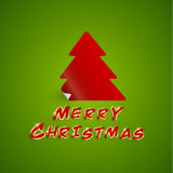 Merry christmas with sticker style Royalty Free Stock Image