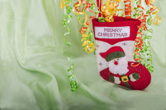 Merry Christmas stock with green background Stock Photos