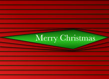 Merry Christmas Stripes Red and Green Stock Photo