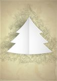 Merry Christmas Stylish Tree. Stock Images