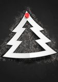 Merry Christmas Stylish Tree. Royalty Free Stock Images