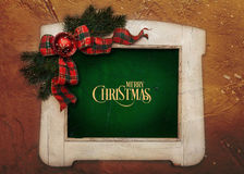 Merry Christmas stylish wooden white colored frame Royalty Free Stock Photography