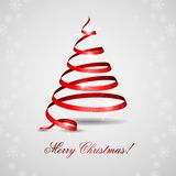 Merry Christmas. Stylized Ribbon Christmas Tree. Vector Illustration. Eps 10 stock illustration