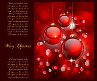 Merry Christmas Suggestive Background. Merry Christmas Elegant Suggestive Background for Greetings Card Stock Photo