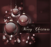 Merry Christmas Suggestive Background. Merry Christmas Elegant Suggestive Background for Greetings Card Royalty Free Stock Images