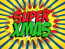 Merry Christmas Super Hero Background Stock Photography