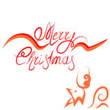 Merry Christmas. Christmas with the symbol of the year of the rooster stock illustration
