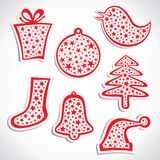 Merry christmas symbols Royalty Free Stock Photo