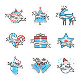 Merry Christmas symbols collection Royalty Free Stock Photography