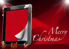 Merry Christmas - Tablet Computer Stock Photography
