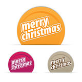 Merry Christmas tag. Different colored tags are used Royalty Free Stock Photos