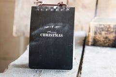Merry Christmas tag Royalty Free Stock Photo